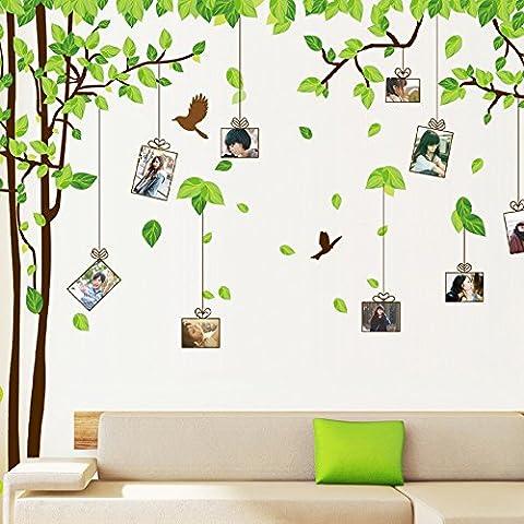 ufengke® Grands l'Image Photo Arbre Cadre Stickers Muraux, Salle de Séjour Chambre à Coucher Autocollants Amovibles, Ensemble de 2 Feuilles