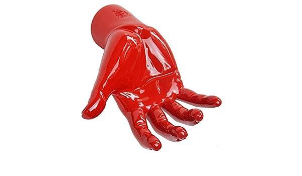 Antartidee Portachiavi da parete Houdini rosso in resina decorato a mano