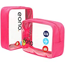 Eono Essentials Clear Toiletry Bag Travel Luggage Pouch Make up Cosmetic Bag for Women Men Kids Waterproof Shower Wash Bags Organizer …