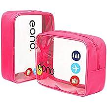 Eono Essentials Clear Borsa da viaggio Borsa da viaggio Borsa da trucco Borsa da trucco per donna Uomo Bambini Impermeabile Doccia Wash Bags Organizer
