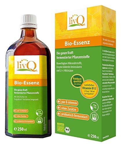 LivQ Bio-Essenz, Vitaldrink, Obst, Gemüse & Superfoods hochkonzentriert fermentiert, 250ml (Bio Superfood)