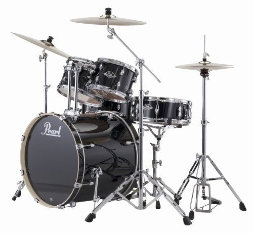 """Pearl EXX705BR/C31 - Export Drumkit (20\"""" Schlagzeug-Set, inkl. Becken, Stative und 830er Hardware) Jet Black"""