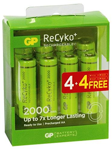 GP Batteries 201143Pack di 8batterie AA 2000mAh