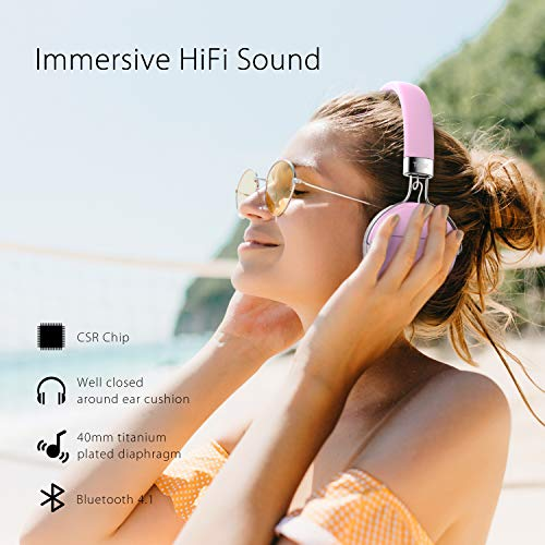 Bluetooth Kopfhörer über Ohr, Tribit XFree Tune HiFi-Kopfhörer kabellos Wireless Kopfhörer mit satten Bass, 24 Stunden Spielzeit, 2 x 40 mm Treiber, Bluetooth 4.1 CSR Chips, 3,5 mm AUX Unterstützung - 2