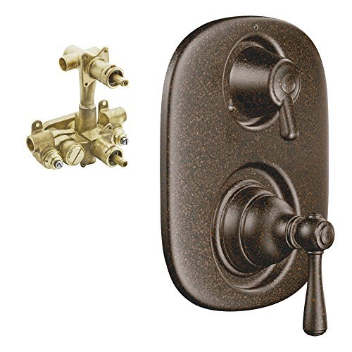 Moen K-T4111-30ORB Kingsley 3-Function Moentrol Trim with Transfer Valve and 1/2-Inch CC Rough-in, Oil Rubbed Bronze by Moen