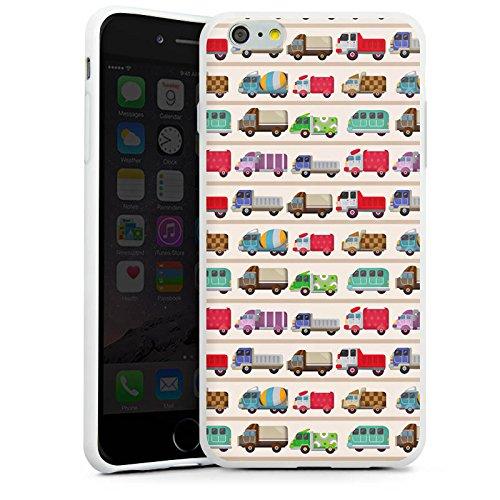 Apple iPhone X Silikon Hülle Case Schutzhülle Fahrzeug Auto Trucks LKW Bunt Silikon Case weiß