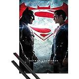 Póster + Soporte: Batman Vs Superman Póster (91x61 cm) Cartel De Cine Y 1 Lote De 2 Varillas Negras 1art1®