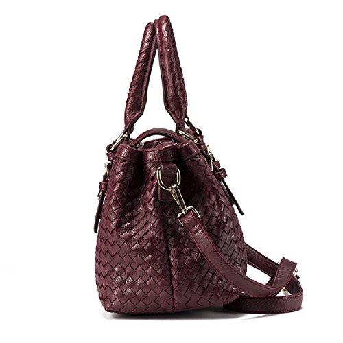 Frauen Elegant Schultertaschen Weiches Leder Groß Messenger Bags Für Frauen Retro Shopper Einkaufstasche Reisetasche Aktentasche D
