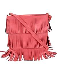 DC's Women's Pink Sling Bag/Cross Body Bag