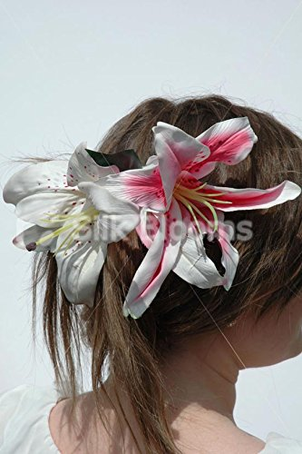 lily-bella-life-like-stargazer-wedding-flowers-hair-comb