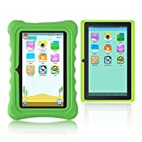 Yuntab Kids Tablet Q88H, Android 4.4 OS Allwinner A33 1.5Ghz Quad Core CPU, 7 Inch 1024x600 HD Display 512+8GB Capacity Dual Camera with iWawa Parental Control Software Pre-installed, Support Bluetooth 4.0 Wifi 3D Game HD Video TF Card with Kid-Proof Silicone Case (Verde)