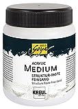 Kreul 85805 - Solo Goya Acrylic Medium, Strukturpaste Feinsand, 250 ml Dose, weiß