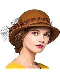 Maitose Trade  De la Femme Laine en Feutre Chapeau Melon 074768c4349