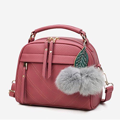 Yinew Herbst und Winter Flut Handtaschen Ball Anhänger Mode Handtasche Schulter Messenger Bag Damen Tasche