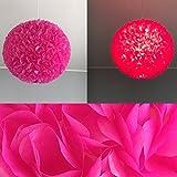 Pink Fluffy, Lampe Leuchte Lampenschirm Pendelleuchte Pendellampe Hängeleuchte Hängelampe Papierleuchte Papierlampe Reispapierlampe Designerlampe Wohnzimmerlampe Schlafzimmerlampe Deckenlampe