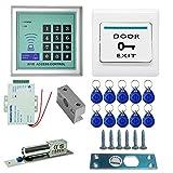 MVPower Zugangssystem RFID Zutrittskontrolle Set Türschloss Türöffner mit 10 Chipschlüssel für Apartmenthaus WG usw. (3)