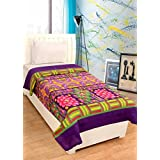 Peponi Floral Single Bed Blanket Multi (Fleece Blanket, 1 Blanket)