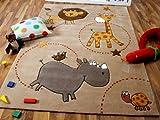 Lifestyle Kinderteppich Beige Zoo !!! Sofort Lieferbar !!!