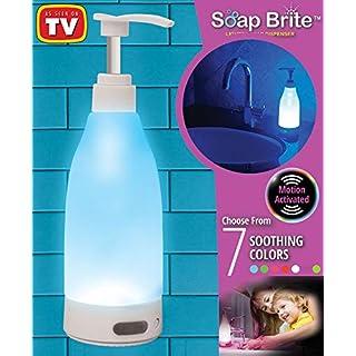 Runvian Soap Brite,LED 7 Farbe Beleuchteter Seifenspender Lighted Soap Dispenser Motion Deteded Light - As Seen On TV, New!!
