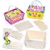 Kits de Paniers de Pâques en Bois que les Enfants pourront...