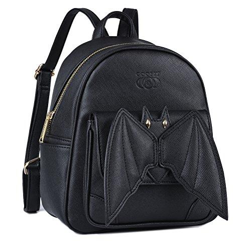 Mini Rucksack, COOFIT Gothic Rucksack Kleiner Rucksack Fledermaus Bat Rucksack für Mädchen Schultasche Casual Daypack Rucksäcke Schulrucksäcke Ostern