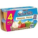 Nestlé naturnes compote de pommes poires 4 x 130g dès 4/6 mois - ( Prix Unitaire ) - Envoi Rapide Et Soignée
