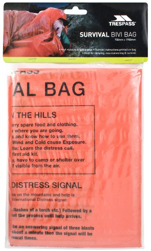 Trespass Radiator High Visibility Bivi Survival Bag - Orange