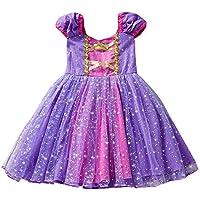 Ropa Bebe niña, Vestido de Falda de Vestido de Princesa Vestido de Princesa Vestido de niña de Malla de Manga Corta de Las niñas(12M-4T)