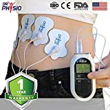 Dr Physio Electrical Nerve Stimulation Pulse Massager Digital Massage Machine for Body (White)