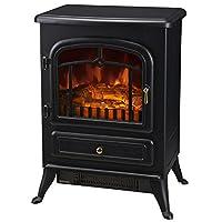 HOMCOM Electric Fireplace Wood Burning Effect