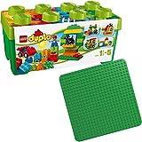 Lego Duplo 2er Set 2304 10572 Grüne Bauplatte + Große Steinbox