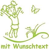 Hoffis Premium Babyaufkleber mit Name/Wunschtext Baby Kinder Autoaufkleber - Motiv 1273 (16 cm) - Farbe und Schriftart wählbar