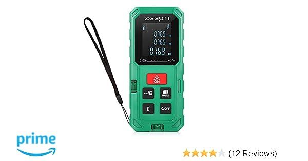 Laser Entfernungsmesser Englisch : Laser entfernungsmesser m zeepin distanzmessgerät messbreich