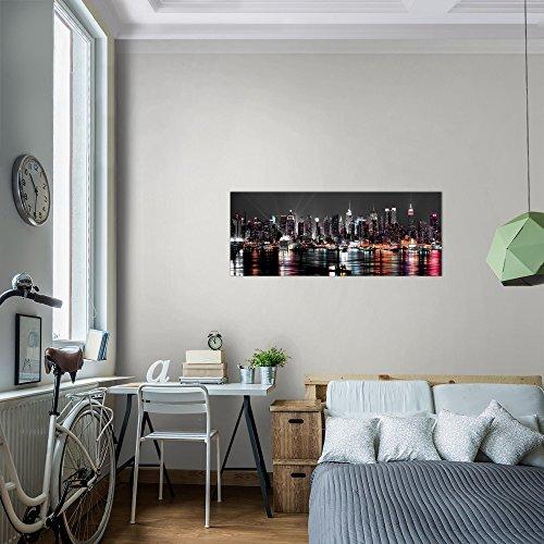 Bilder 100 x 40 cm - New York Bild - Vlies Leinwand - Kunstdrucke -Wandbild - XXL Format - mehrere Farben und Größen im Shop - Fertig zum Aufhängen - 601912a - 6