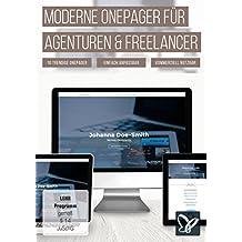 Moderne Onepager für Agenturen, Freelancer, Designer und Bewerber (PC+Mac)