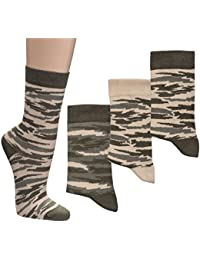 Söckchen 'Camouflage' Tarnfarbe, 3erPack, Größe:35-38