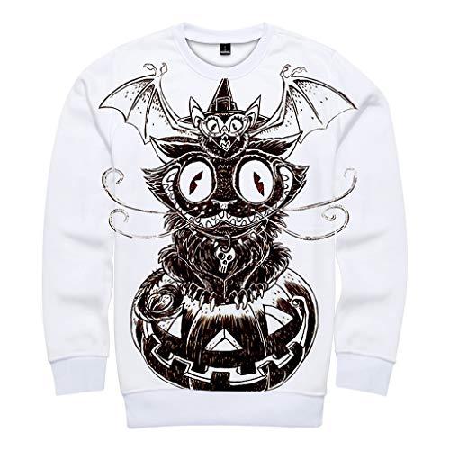 MasteriOne Unisex Sweatshirt Mode 3D Print Halloween Pullover Hoodies with Big Pockets - Moderne Bonnie Und Clyde Kostüm