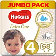 Huggies Extra Care, Size 4+, Jumbo Pack, 64 Diapers