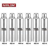 Nirlon Stainless Steel Water Bottle Set, 400Ml, Set Of 6, Silver