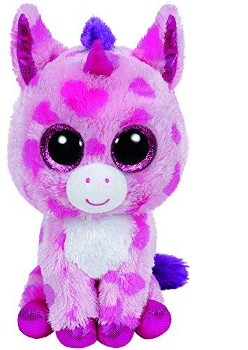 Carletto-Ty-36175-Sugar-Pie-Einhorn-pink-15-cm-mit-Glitzeraugen-Glubschis-Beanie-Boos-Valentin-limitiert