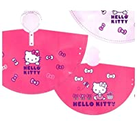 Hello Kitty Poncho PVC Raincoat Girls Clothes Pink