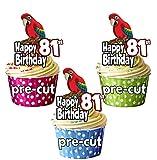 Parrot prédécoupée-Nouveau Brun d'anniversaire-comestible pour...
