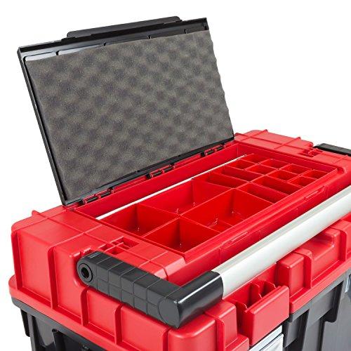 HD Trophy 3 Plus Werkzeugkoffer Box Toolbox Werkzeugkiste 595x345x355 Alugriff schwarz / rot - 7