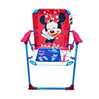 takestop® – Disney Minnie Mouse Folding Chair, Fuchsia and Blue, Children