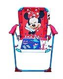takestop® Klappstuhl Minnie Minnie Disney Fuchsia Blau für Kinder Kinder Kinder/Kinderzimmer Meer Strand Garten aus Metall und Kunststoff mit Armlehnen tragbar Leichtes 53x 38x 39cm