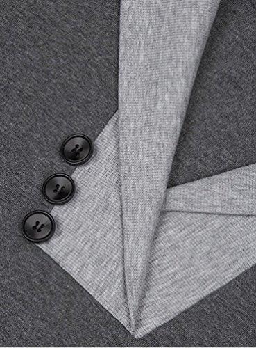 WanYang Damen V-Ausschnitt Langarm Hoodie Kapuzenpullover Sweatshirt Frauen Kapuzenshirt Grau