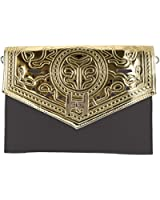 Girly HandBags New Laser Cut Leather Metallic Clutch Bag Evening Perforated SIlver Gold Handbag