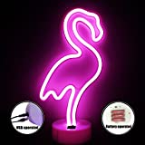 Best Gifts & Decor Glass Desks - LED Flamingo Neon Light Signs - XIYUNTE Room Review