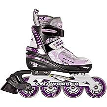 Damen Inline Skates PERLETA verstellbar Gr. 31-34, 35-38, 39-42 ABEC 5, Aluminium, lila Inliner Inlineskates
