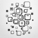 WANDfee® Wandtattoo Vierecke retro cube 80 aufkleber FARBWUNSCH wandaufkleber kinderzimmer wohnzimmer flur fliesenaufkleber bad badezimmer küche